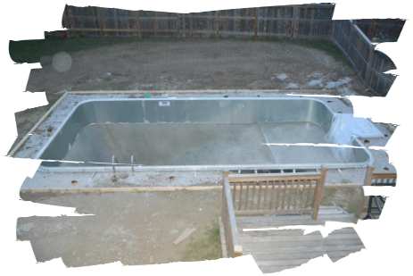 pool frame up