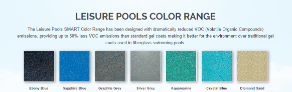 Leisure Pools Colour Range